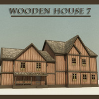wooden house7 house 3d 3ds