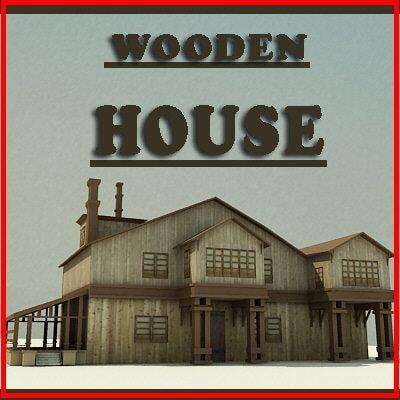 3d model of wooden house