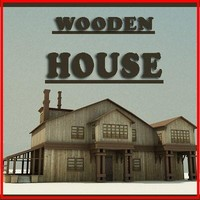 3d model of wooden house