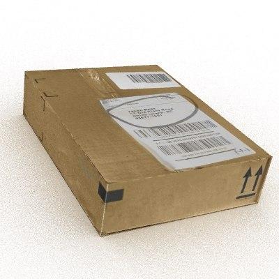 cardboard box 3d 3ds