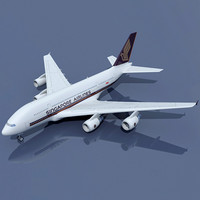 airbus a380 singapore 3d model