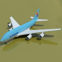 Korean Air Airbus Model A380