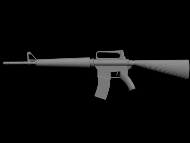 m16a3 shooter weapons 3d model