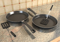 Frying pan and Spatula