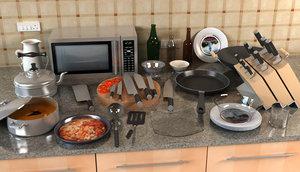 kitchen ware 3d max
