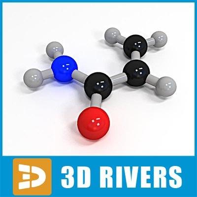 acrylamide molecule structure 3d 3ds
