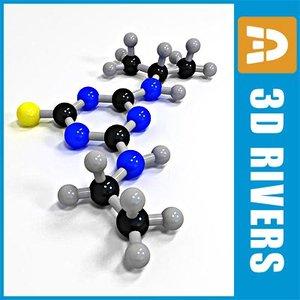 atrazine molecule structure 3d model