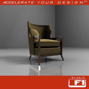 3d baker lounge chair