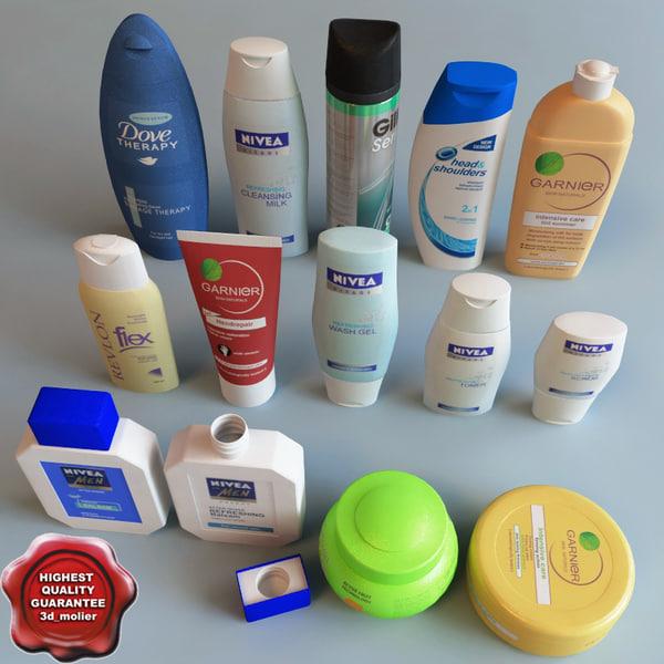 bath cosmetics 3d model