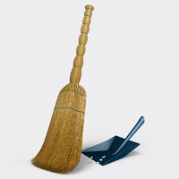 broom dustpan 3d model