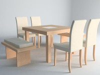 3d dining comedor model