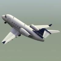 Challenger300 Jet Model