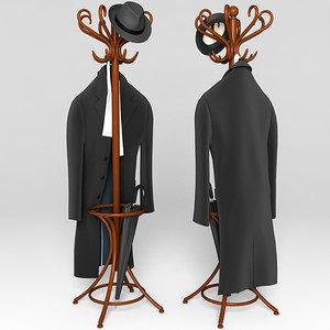 coat rack clothes 3d model