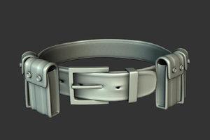 military belt 3d obj