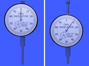 3d dial indicator model