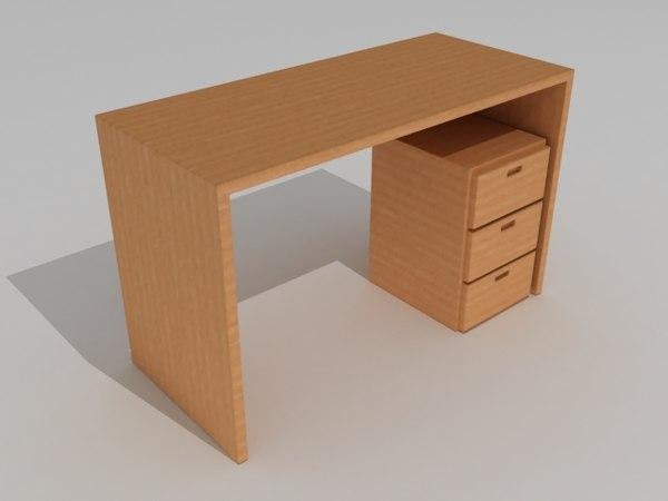 3d desk escritorio model