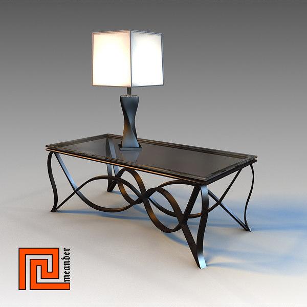 max glass table lamp interior
