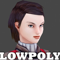 Female Character - low poly model