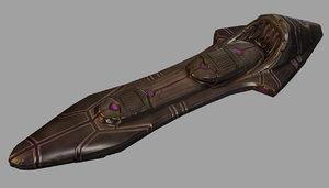 3d model hoverboard sci-fi