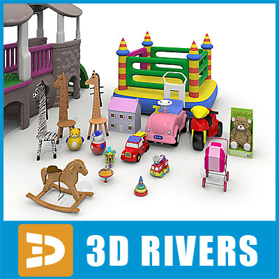 large supermarket toys 3d 3ds