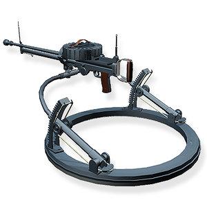3d model lewis gun
