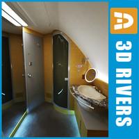 3d airbus 380 lavatory model