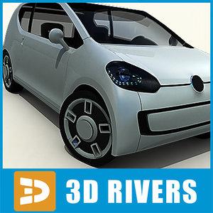 3d model car concept 3 doors