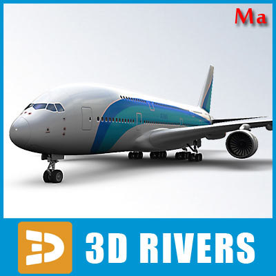 airport airbus a380 3d model