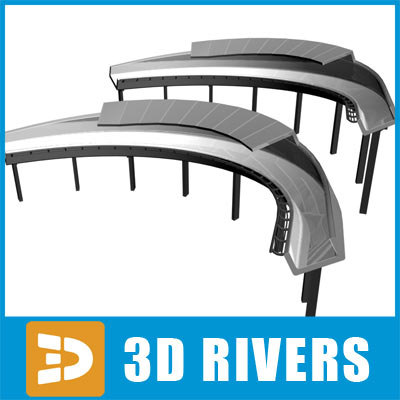 3d model bobsleigh track