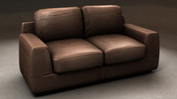 leather loveseat obj