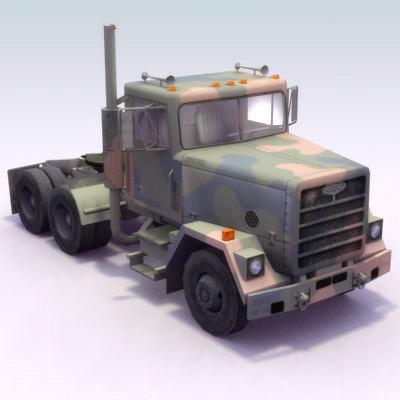 m915 semi truck transportation 3d model