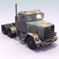 m915 semi truck transportation 3d model