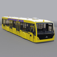 3d aeroport bus