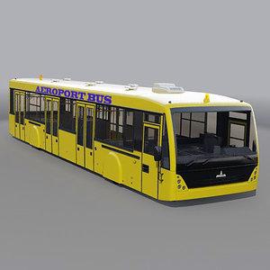 3d aeroport bus