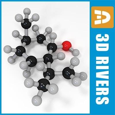 menthol molecule structure 3d obj