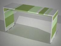 escritorio desk niños 3d model