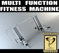 3ds max multi function fitness machine
