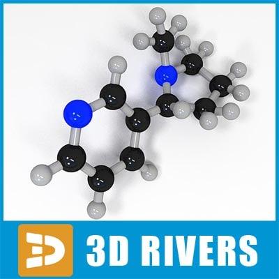 nicotine molecule structure max
