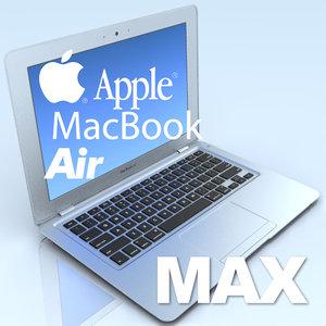 notebook apple macbook air 3d model