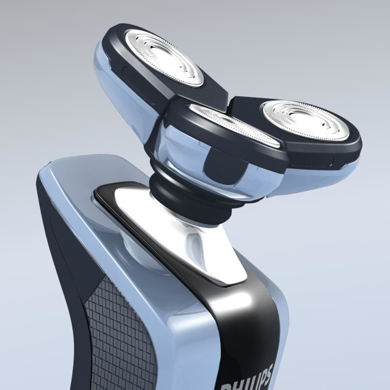 philips rq 1060 shaver 3d model