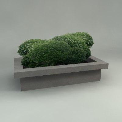 planter plants landscaping 3d max