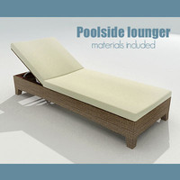 poolside lounger 3d 3ds