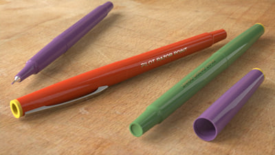 pilot felt tip pen 3d model
