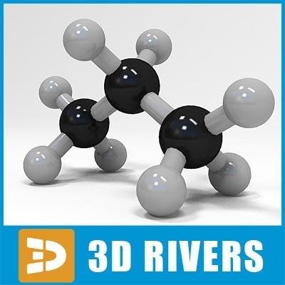 propane molecule structure 3d max