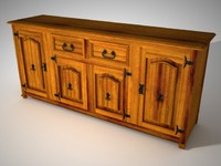 3ds max rustic aparador furniture