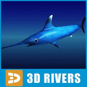 3d swordfish fish model