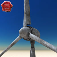 wind turbine 3d lwo