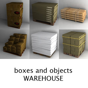 warehouse objects 3d obj