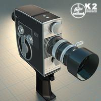 bolex k2 8mm camera 3d model