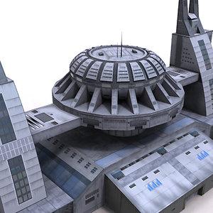3ds building science fiction